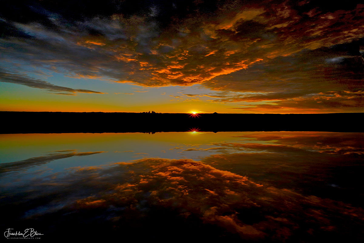 Sunset Reflections Backcountry Lake