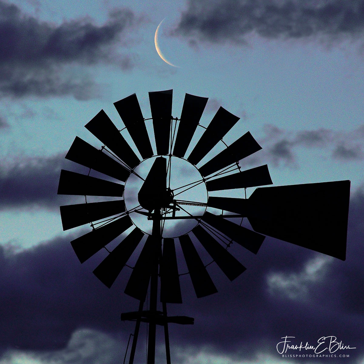 Blue Morning Windmill Moon