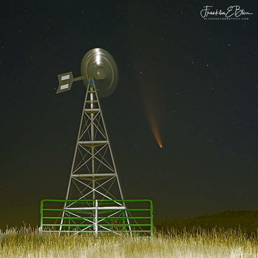 Windmill Watching Comet Neowise