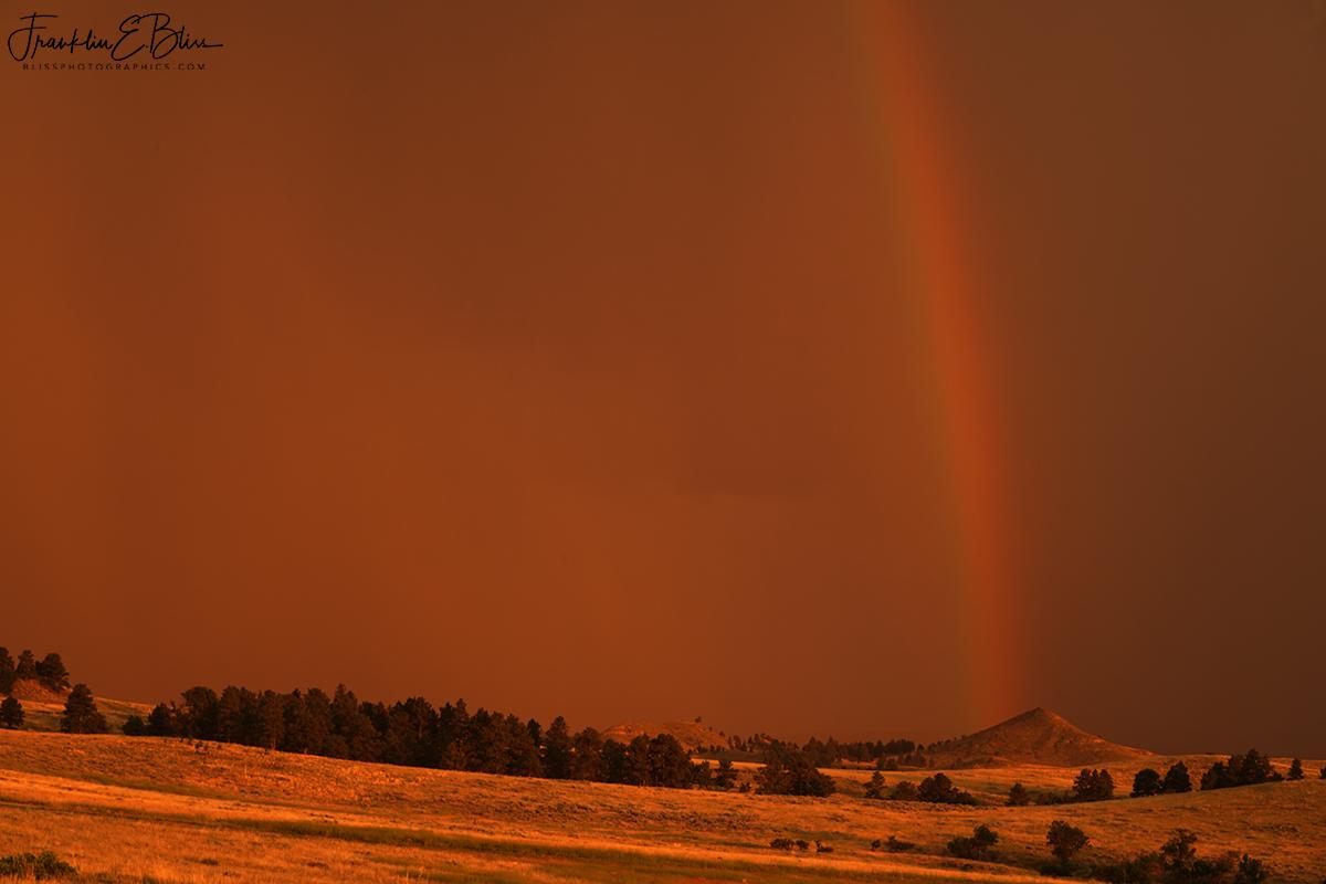 Sunset Red Rain Bow