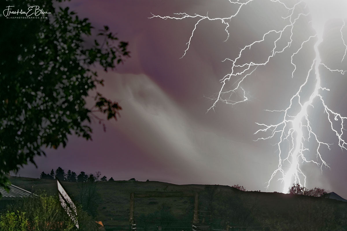 Lightning Off My Deck