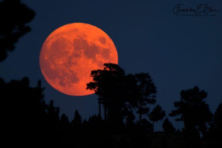 Full Smokey Moon Rising  080320B