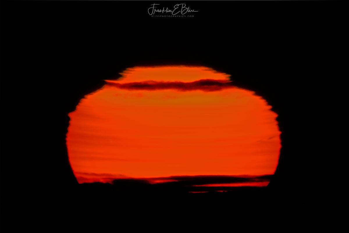 Sunrise Smokey Atmospheric Lensing