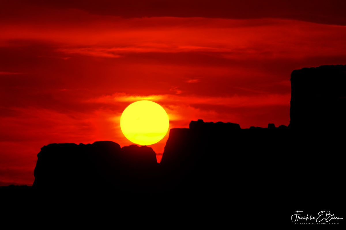 Sun Bouncing Down Boulders