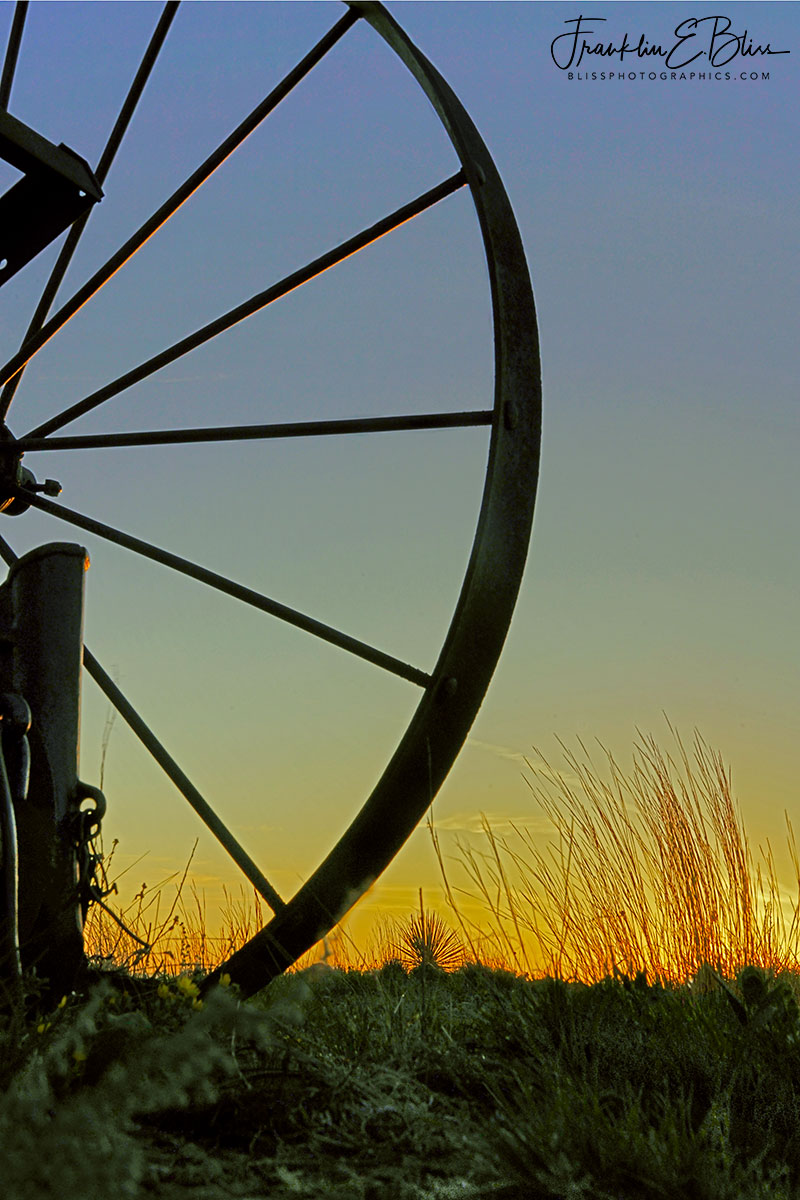 Perspective Wheel On the Prairie